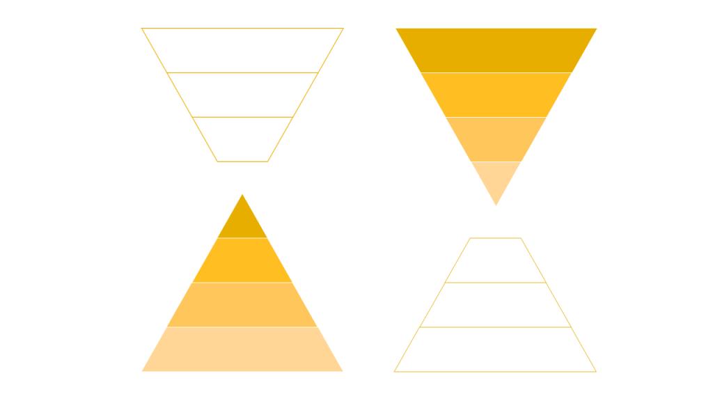 Exemple de structure en pyramide